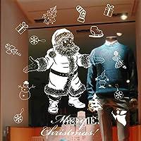 ウォールステッカー クリスマス 窓 壁紙 剥がせる ステッカー クリスマス 飾り 雰囲気満点 ガラスステッカー 家庭 店舗 家庭 クリスマスツリー サンタ Xmas Christmas (XD-10)