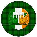 Moderner r&er Teppich – Happy St. Patricks Day, Bier, irische Flagge – rutschfest & schmutzabweisend, weich, gemütlich, für Wohnzimmer, Schlafzimmer, Esszimmer, 152 cm