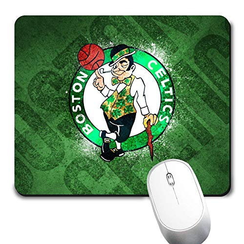 Basketball Team Mouse Pad,Cute and Funny Non-Slip Base Life Needs Sport Mousepad, Boston Funs Gift Mouse Mat