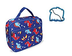 4. Keeli Kids Insulated Dinosaur Lunch Box Bag