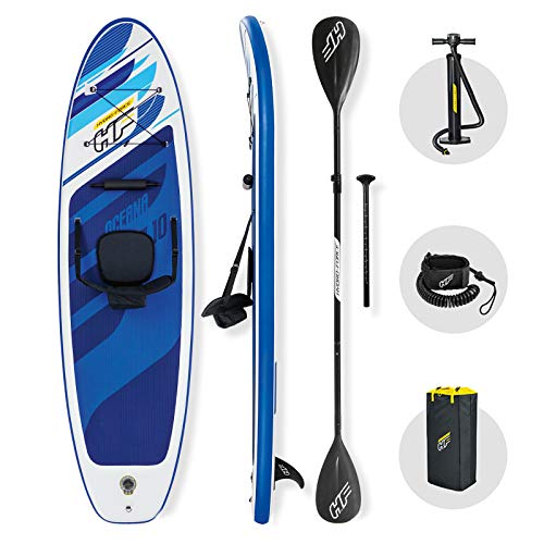 Bestway Hydro-force SUP, Oceana Convertible Stand Up Paddle Board set with Hand Pump and Travel Bag, 10 ft, Blue