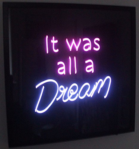 """Desung Brand New 17"""" It Was All A Dream (Various sizes) CUSTOM Design Decorated Acrylic Panel Handmade Man Cave Neon Sign Light UT106"""