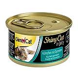 GimCat ShinyCat in Jelly Hühnchen - Nassfutter mit Fleisch und Taurin für Katzen, 24 x 70 g