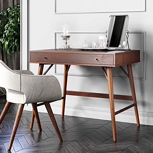 Bonny Wood Desk | Mid-Century, Modern for Home Office, Small Writing Station