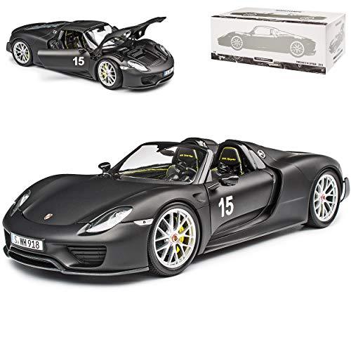 Porsche 918 Spyder Matt Schwarz Weissach Package limitiert 300 Stück 1/18 Minichamps Modell Auto