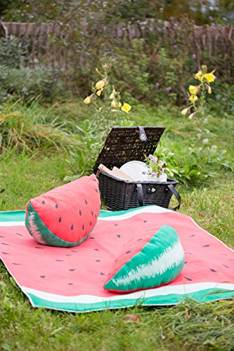 Fussenegger David Decke Wassermelone Picknickdecke inkl. Beutel (ohne Beschichtung) 130/170 cm