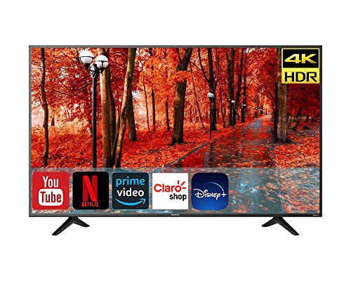 Hisense Televisión 2020 4K SmartTV Led con Sistema Roku | Compatible con Google Assistant y Alexa | Motion Rate 120 | HDR10 | DTS Studio Sound (Renewed) (58R6E3/58)