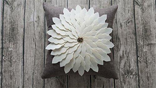 WEBO HOME- Méditerranéenne en trois dimensions Oreiller Fleur couverture -Coussin/oreiller (Couleur : A)