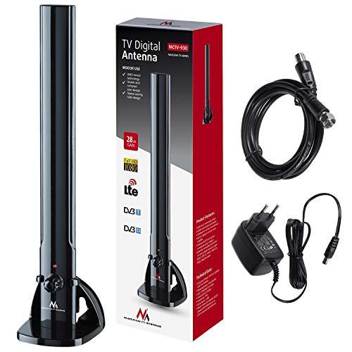 Maclean MCTV-930 Zimmerantenne TV Radio Antenne HDTV DVB-T2 DVB-T LTE DAB UKW 100dBµV Verstärker Digital Terrestrisch