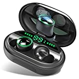 NewModel'Wireless Headphones, Bluetooth 5.0 Headphones 150H Playtime, IPX8 Waterproof, True Wireless Earbuds Earphones with HD Deep Bass, Low Latency, Touch Control, Smart LCD Digital Display
