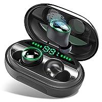 ♫【HiFi Suono Stereo & Riduzione Rumore】:Cuffie Bluetooth Senza Fili ti offrono il suono stereo HiFi e ti godono il mondo della musica liberamente. L'esclusiva tecnologia di cancellazione del rumore CVC 8.0 riduce efficacemente il rumore di fondo, per...