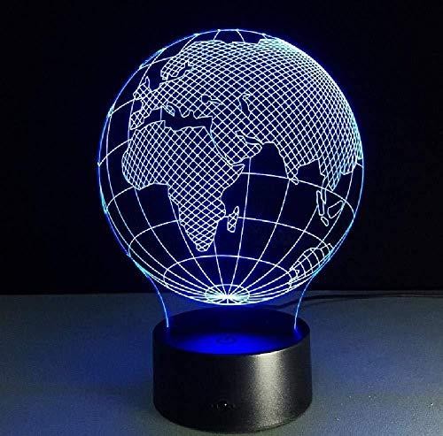 Europa en Afrika wereldkaart verlichting 3D LED tafellamp staande lamp voor thuis tafellamp 3D nachtlicht smartphone bediening Bluetooth