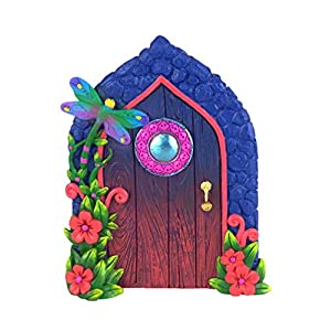 miniature dragonfly fairy door for the enchanted garden fairies and gnomes a fairy and gnome garden accessory