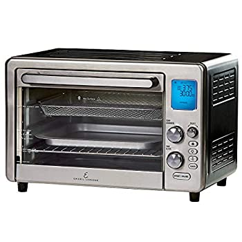"""Emeril Lagasse Power Air Fryer 360 Max XL Family Sized Better Than Convection Ovens Replaces a Hot Air Fryer Oven Toaster Oven Rotisserie Bake Broil Slow Cook Pizza Dehydrator & More Emeril Cookbook Stainless Steel  MAX 15.6"""" 19.7"""" x 13"""""""