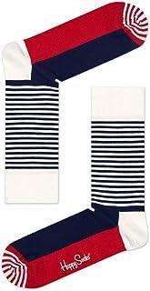 Happy Socks Half Stripe Calcetines, OPACAS para Hombre
