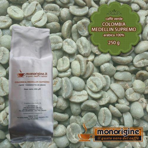 Arabica Green Coffee beans Colombia Medellin Supremo - 250 g