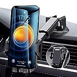 車載ホルダー Auckly スマホスタンド スマホ ホルダー 2in1強力ゲル吸盤式&エアコン出し口式兼用 オートホールド式 伸縮アーム 取り付け簡単/360度回転可能/片手操作/多機種対応/iPhone 11 Pro Max XS Max/Xs/Xr/X/8/7/6 Plus/Samsung Galaxy S10/S10+/S9/S8/S7/Sony/LG/Huawei