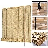 Persianas De Bambú Natural,cortinas De Caña Para Ventana,persiana Enrollable De Paja,cortina Elevadora,aislante Térmico/transpirable/tamaño Personalizado,Naturel-48x72in/122x183cm
