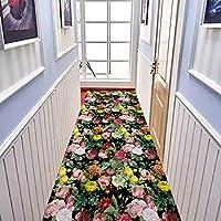 MDCG 廊下 カーペット ランナー 3D 寝室 リビングルーム キッチン 滑り止め フロアマット 入り口 玄関マット (Color : F, Size : 80X200CM)