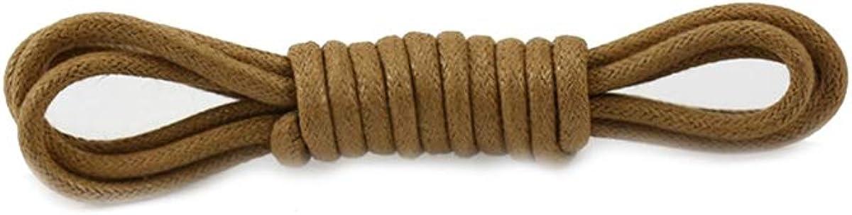 Cordones de los Zapatos 1 par Color sólido Redondo de algodón Encerado Cordones clásico Unisex Cuero Resistente al Agua 120cm 80cm