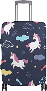Mydaily Cute Unicorn Luggage Cover Fits 18-32 Inch Suitcase Spandex Travel Baggage Protector