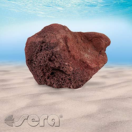 sera Rock Red Lava (prijs per steen) verschillende maten - lavasteen of vulkanische steen - natuursteen decoratie voor het aquarium - decoratie of steen, L (Stuk von 16 bis 23 cm)
