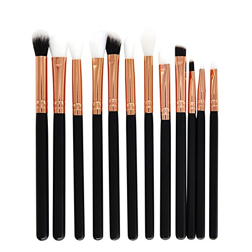Dosige Eyeshadow Brush Pinceaux Professionnels Maquillage Cosmétique Brush 12 Pcs