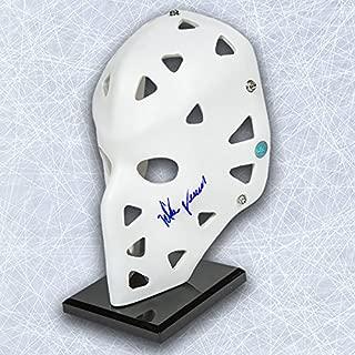 Mike Vernon Autographed Full Size White Retro Goalie Mask - Calgary Flames