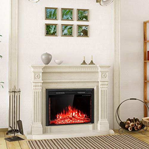 """36"""" Electric Fireplace Wall-Mounted Insert Freestanding Stove Heater Best Choice to Warm Up in Winter for Living Room, Bedroom and Office"""
