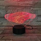 Luz de la noche Luz 3D con pilas concepto coche ciencia ficción coche bebé base brillante led luz nocturna