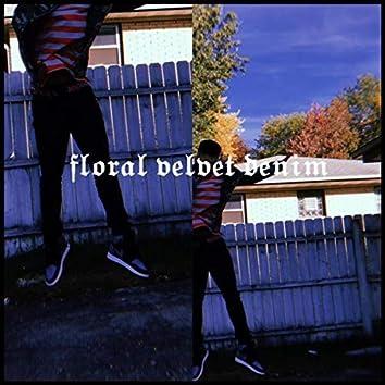 Floral Velvet Denim