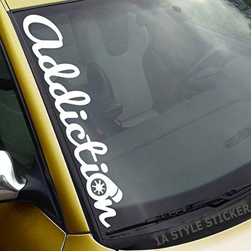 addiction Frontscheibenaufkleber Turbo Autoaufkleber Zubehör Motor Silikonschläuche