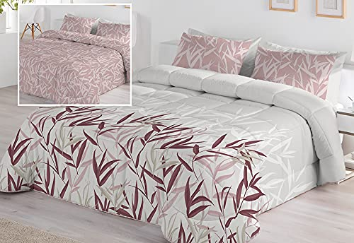 Edredón Conforte Reversible Serenity Malva Cama 150