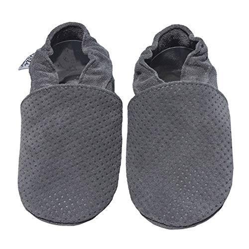 HOBEA-Germany Krabbelschuhe, Größe Schuhe:16/17 EU, grau geprägt