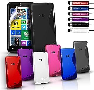 Telefonskydd - S-Line silikongel fodral skydd för olika mobiltelefoner och gratis skärmskydd, Nokia Lumia 625, Lila