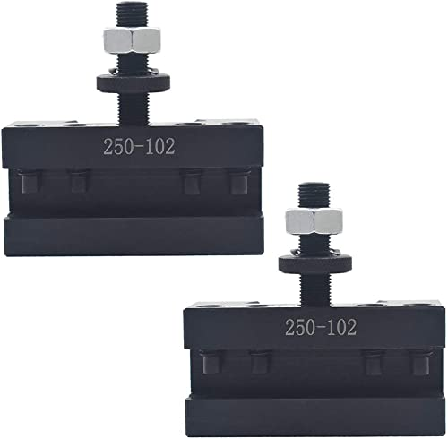 """lowest 2Pcs 2# Quick Change Tool Post Boring Turning Holder 250-102 AXA new arrival 6-12"""" for discount Lathe Center Height 0.6-1.75"""" outlet online sale"""