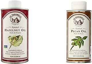 La Tourangelle Roasted Hazelnut Oil 16.9 Fl. Oz. & Roasted Pecan Oil 8.45 Fl. Oz., All-Natural, Artisanal, Great for Salad...
