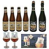 Pack cerveza Karmeliet 2 x 75cl + 4 x 33cl +2 copas +...