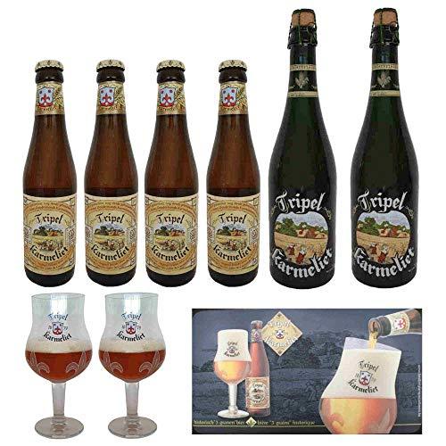 Pack cerveza Karmeliet 2 x 75cl + 4 x 33cl +2 copas + alfombrilla