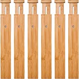 6 Pack Bamboo Drawer Dividers,...