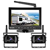 Wireless Backup Camera for RV Truck Trailer Bus, VECLESUS VMW7-2C 1080P Digital Wireless Backup Camera System, 2 Wireless Cameras for Front and Rear View, Maximum Transmission Distance Over 100FT(30M)
