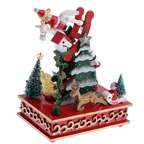 MagiDeal Boîte à Musique Wind Up Clockwork Jouet Style Différent Décoration Maison Fête Noël - Christmas Tree