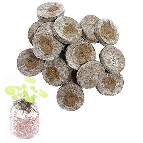 GAODA Kokoserde Quelltabletten mit Nährstoffen, Anzucht Quelltabletten zur torfquelltöpfe Bonsai anzucht, Aussaaterde Anzuchterde Torftablette Zur Pflanzen Anzucht. (20 Stück)