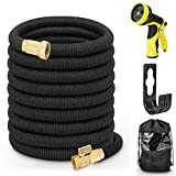 Best Garden Hose 50 Fts - Hermard 50ft Expandable Garden Hose with 9 Function Review
