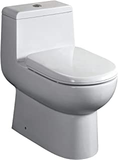 Fresca Bath FTL2351 Antila 1 Piece Dual Flush Toilet with Soft Close Seat (Renewed)