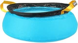 10l Outdoor Camping Folding Nylon Water Washbasin Portable Wash Basin Bag Quick Dry Picnic Foot Bath Green/blue