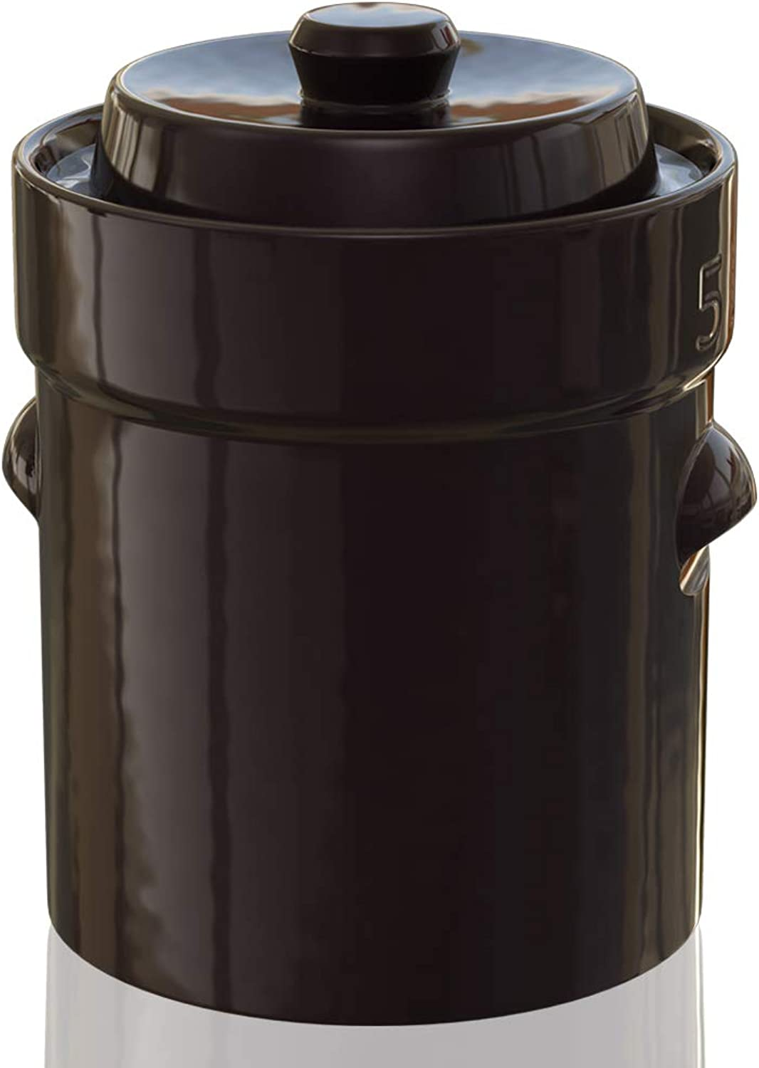 TSM Products 31060 German Style Fermentation Harvest Pot with Stone Weight, 5-Liter