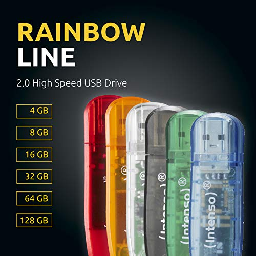 Intenso Rainbow Line 8 GB USB-Stick USB 2.0 grün