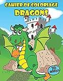 cahier de coloriage dragon: 70 coloriages 140 pages , 21.59 x 27.94 cm , papier crème