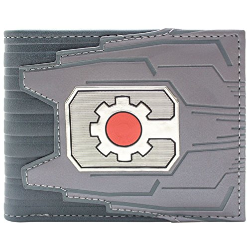 Cartera de DC Cyborg Logotipo del engranaje de la mquina Plata